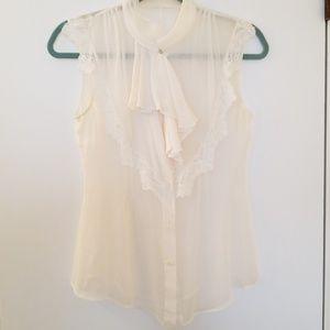 Ali Ro sheer ivory blouse
